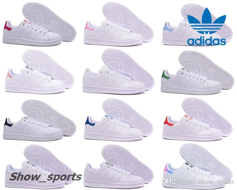 Adidas Stan Smith Zebra Triple White Green Black Skull Pink Iridescent Heel  Women Men Running Shoes Classic Smiths Casual Shoes With Box Adidas Stan  Smith ...