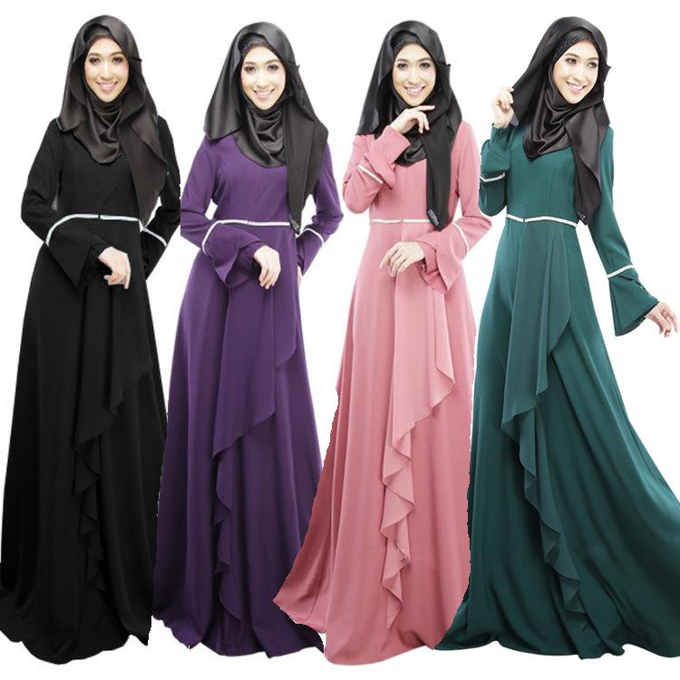 Hot Design Muslim Long Gown Classic Style Wedding Long Dress Woman ...