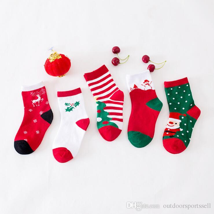 2018 New Style Sports Socks Boys And Girls Cute Christmas ...