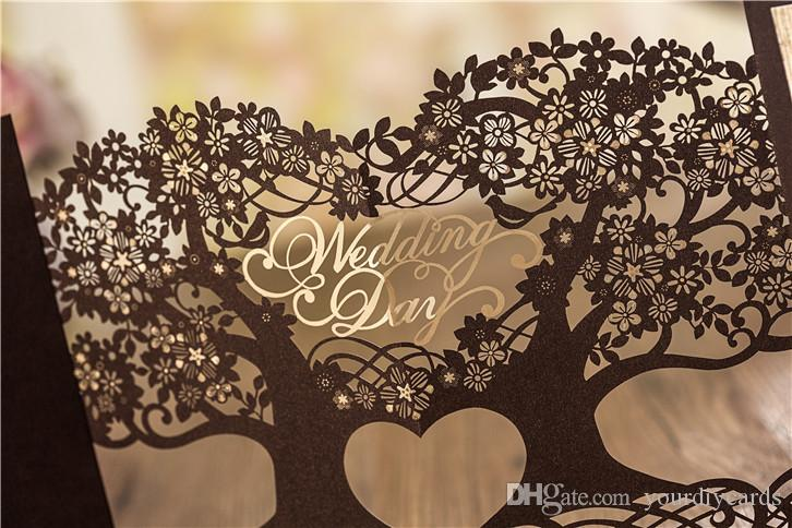 2016 Classic Personalized Wedding Invitation Cards Laser Cut