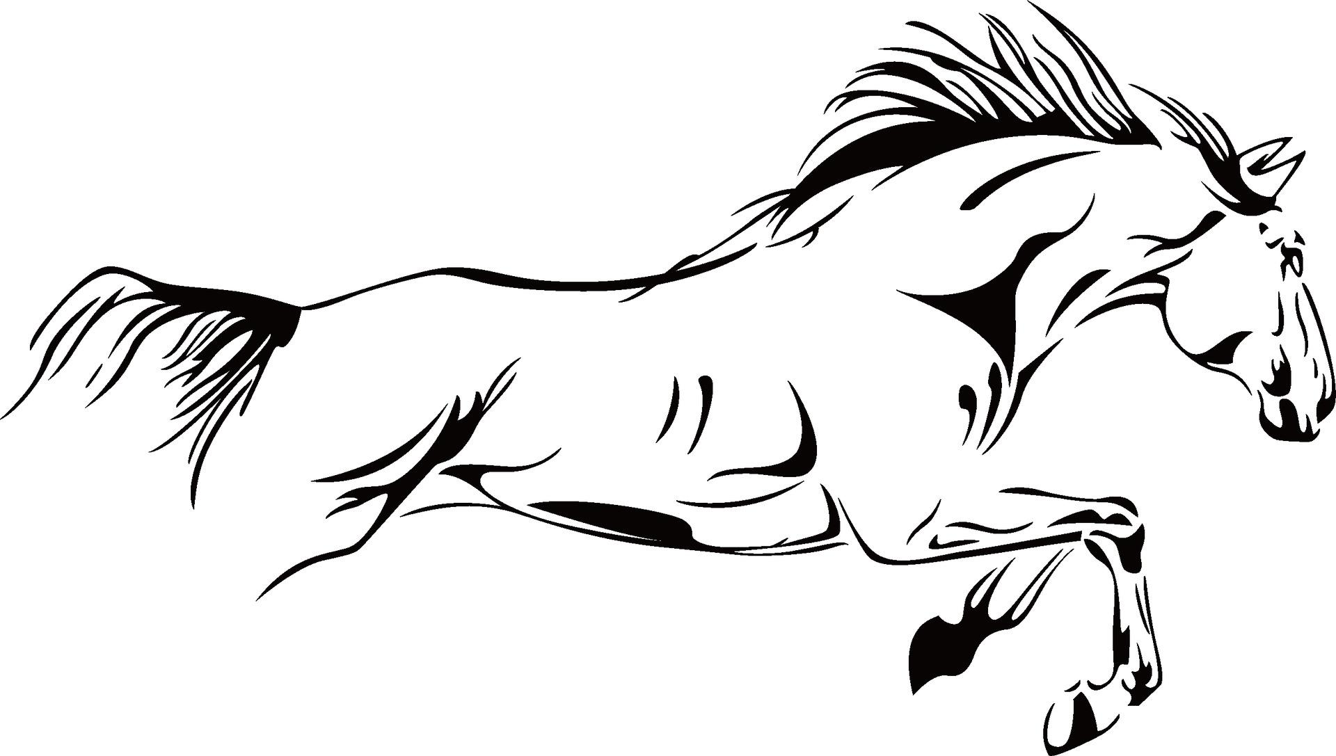 Pentium horse vinyl wall stickers on the wall removable home decor for  bedroom,living room,Tv,sofa setting wall decoration