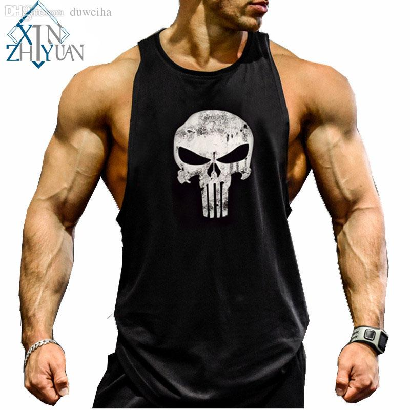Online cheap wholesale gym clothing men fitness shirts for Cheap workout shirts mens