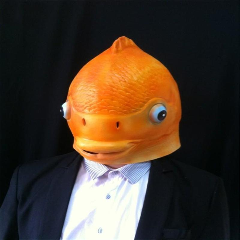 Halloween mask masquerade for adult fashion funny fish for Fish head costume