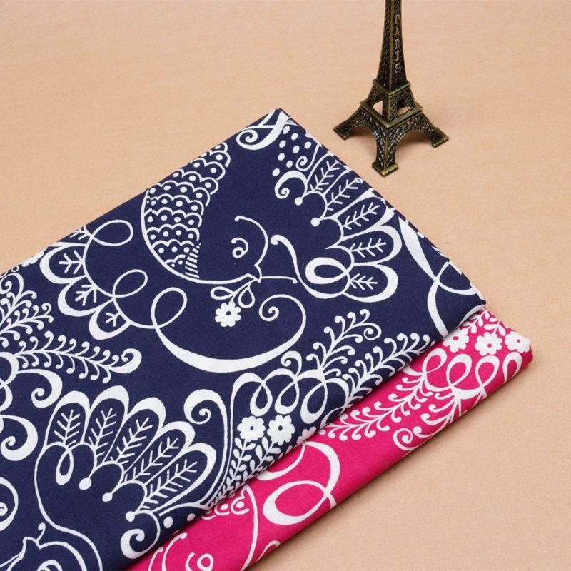 1 meter American VB fabric 100% cotton retro navy red floral prints, garment handmade pillow handbag cloth CR-465