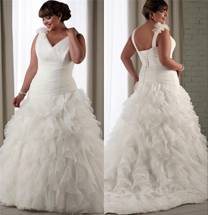 Plus size black girls mermaid wedding dresses 2016 organza for Black mermaid wedding dresses