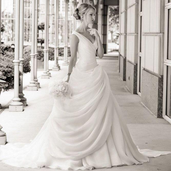 Drop Waist Wedding Dress: Vintage Drop Waist Wedding Dress Blush Pink Ball Gown V