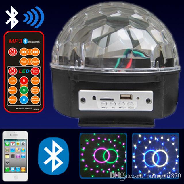 Cheap Bluetooth Led Crystal Magic Ball Light Best Round Crystal Sew Stones