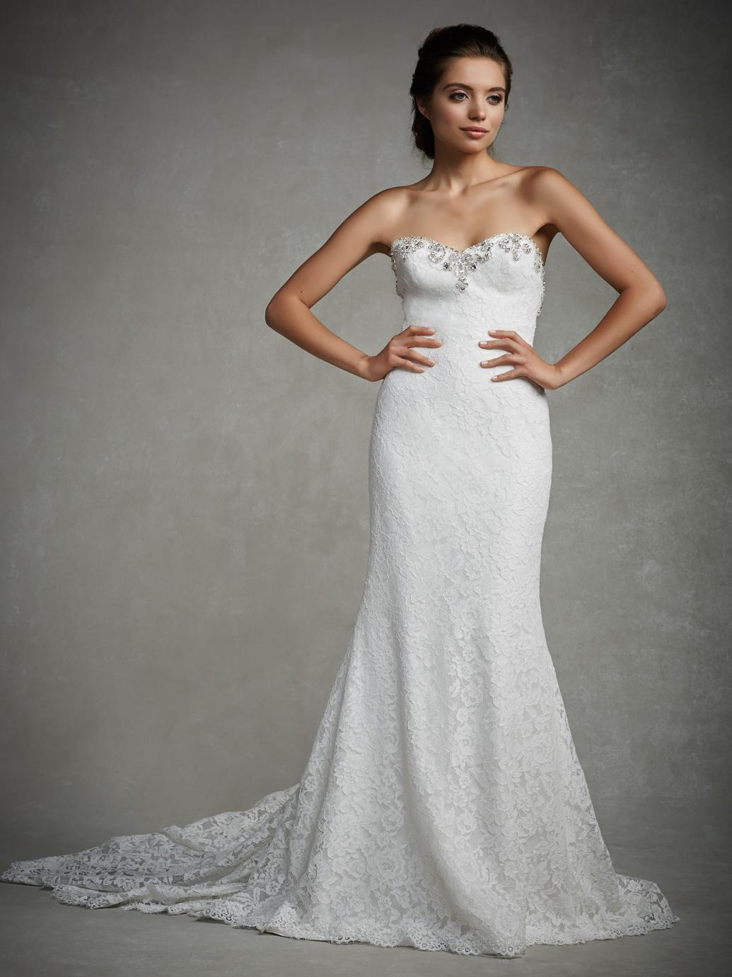 2016 Mermaid Wedding Dresses 2015 y Lace Strapless