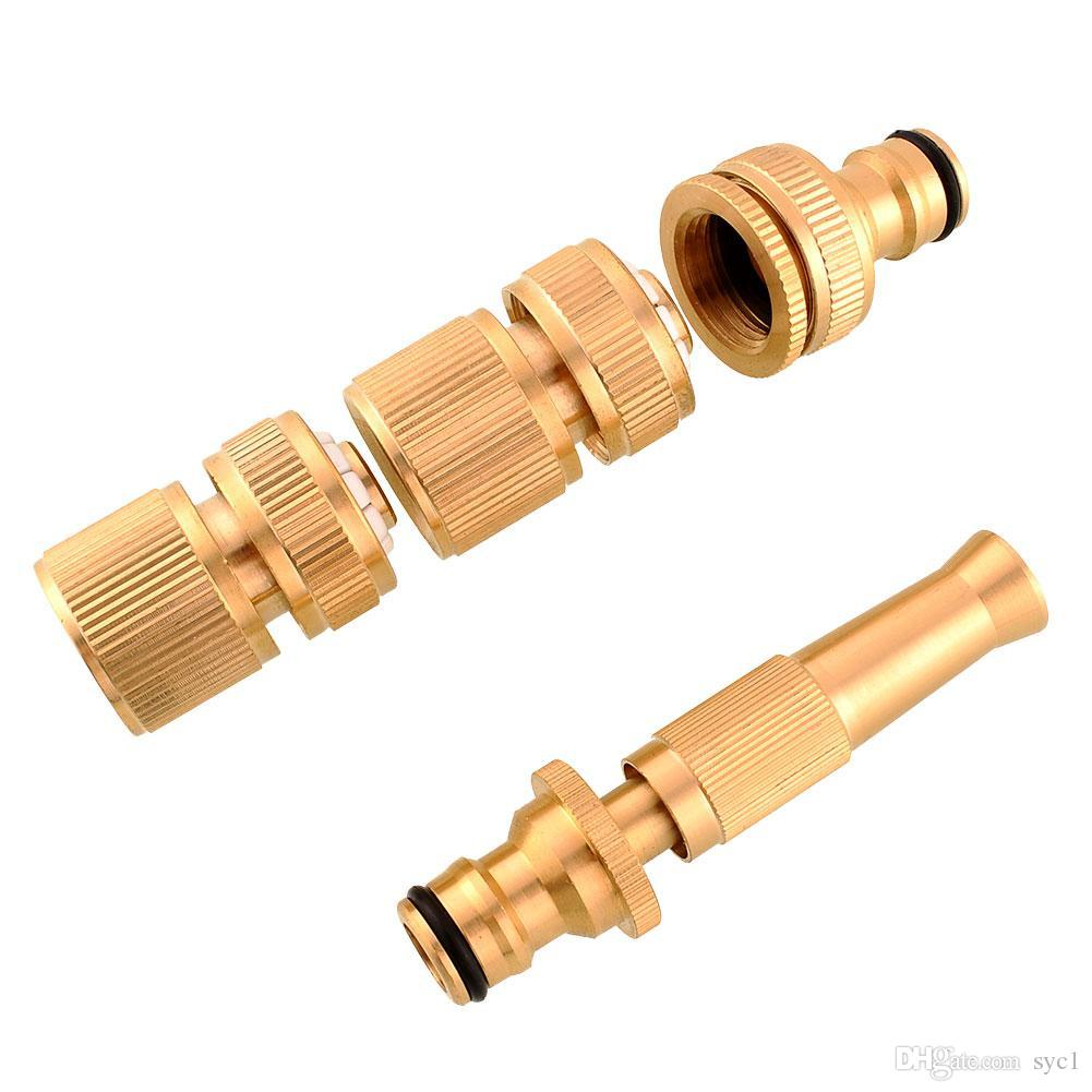 Brass threaded faucet water pipe tube tap connectors