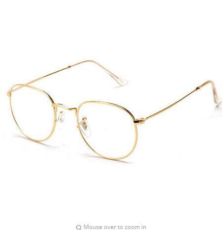 fashion gold metal frame eyeglasses for women female vintage glasses with clear lens optical frames oculos