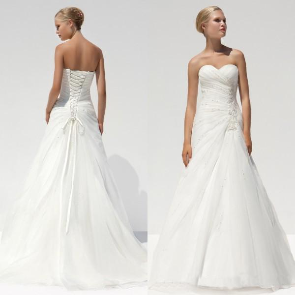 Very Simple Wedding Dresses: Discount White Wedding Dresses Custom Made Embrodiery Very