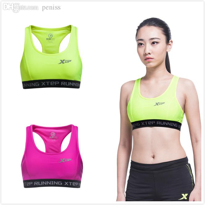 2017 Wholesale Xtep New Crop Top Sports Bras Shirts Women Sports ...