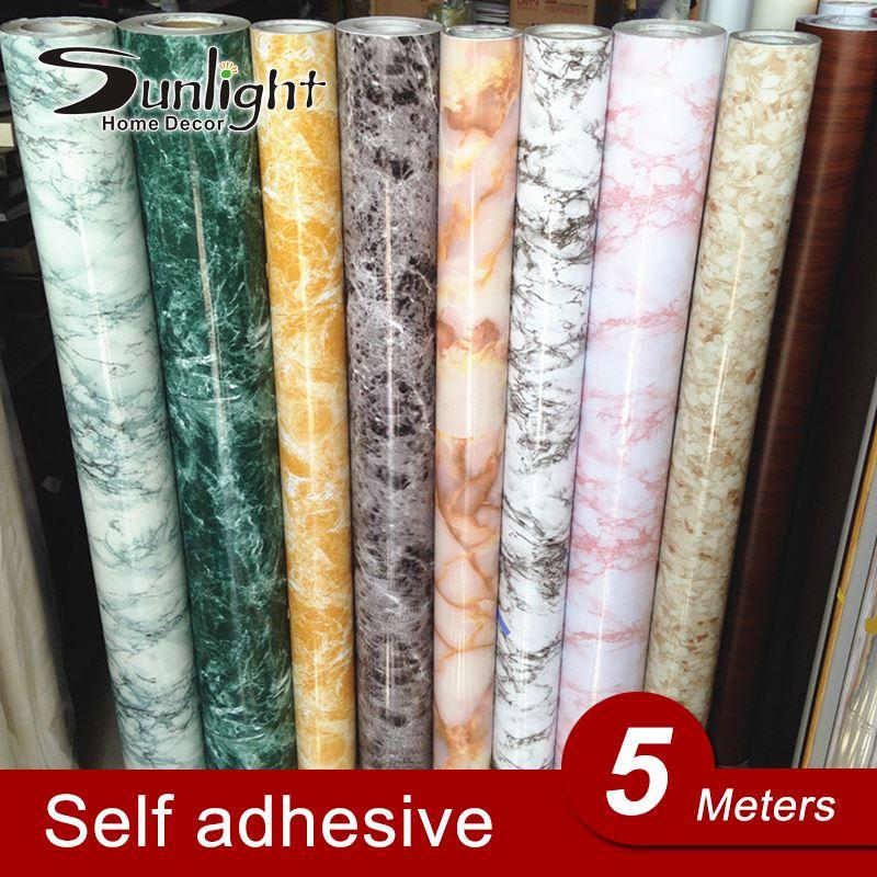 5m modern pvc self adhesive wall paper kitchen desktop marble wallpaper sticker refurbished furniture tapete of - Kchen Tapeten Modern