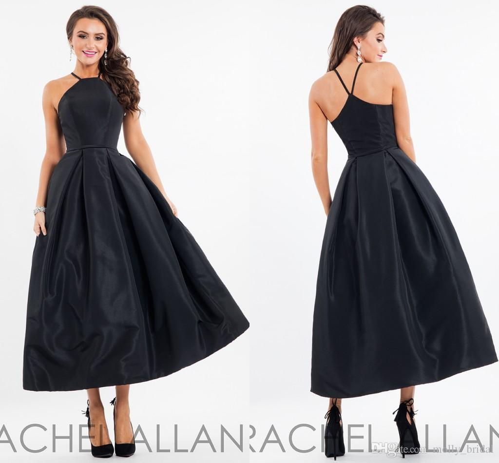 y Simple Black Evening Prom Dresses 2017 High Neck