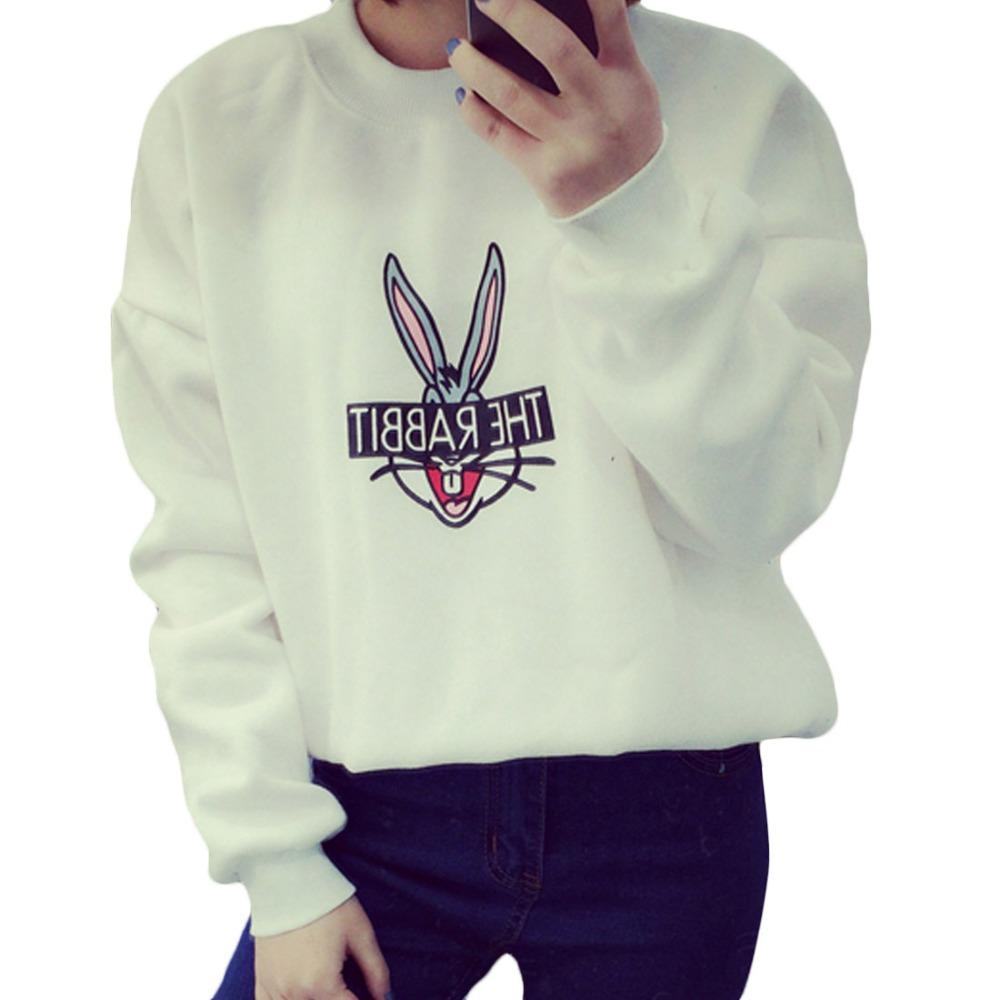 New 2016 Autumn Winter Women Cute Cartoon Bugs Bunny Printed Sport ...