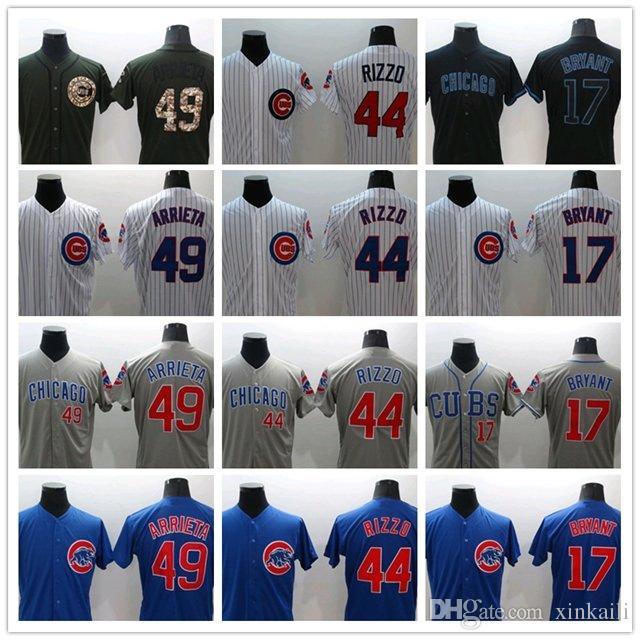 d6d4e6d15 ... Chicago Cubs Jersey 17 Kris Bryant Jersey 44 Anthony Rizzo 9 Javier  Baez 49 Jake Arrieta Mens Women Baseball ...