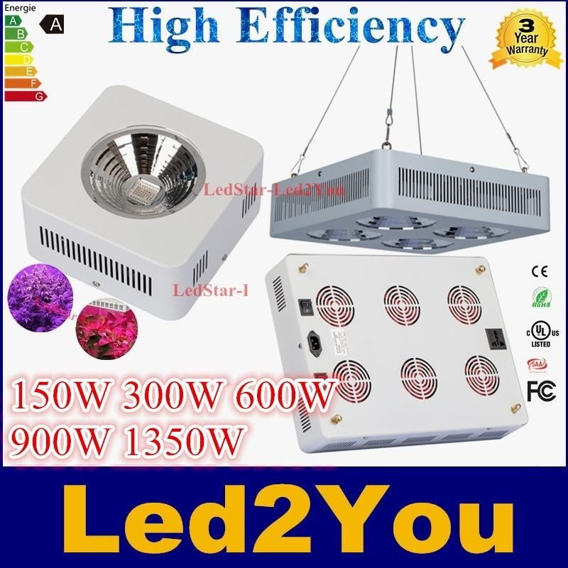 cob full spectrum led grow light 150w 300w 600w 900w 1350w red blue ratio hydroponic grow led lights greenhouse plants growing lighting lamp cob led led
