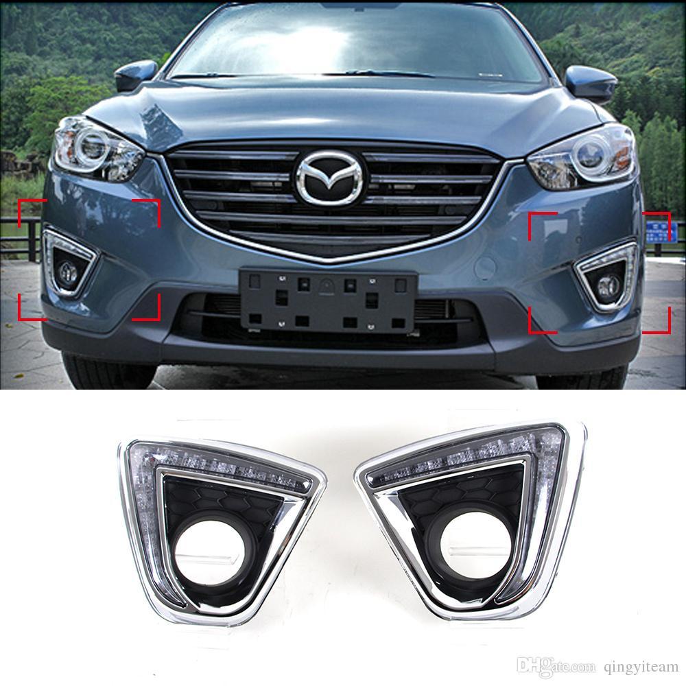 Car Led Drl Kit For Mazda Cx 5 Cx5 Cx 5 2012 2016 Led Daytime Running Light Bar Daylight Fog