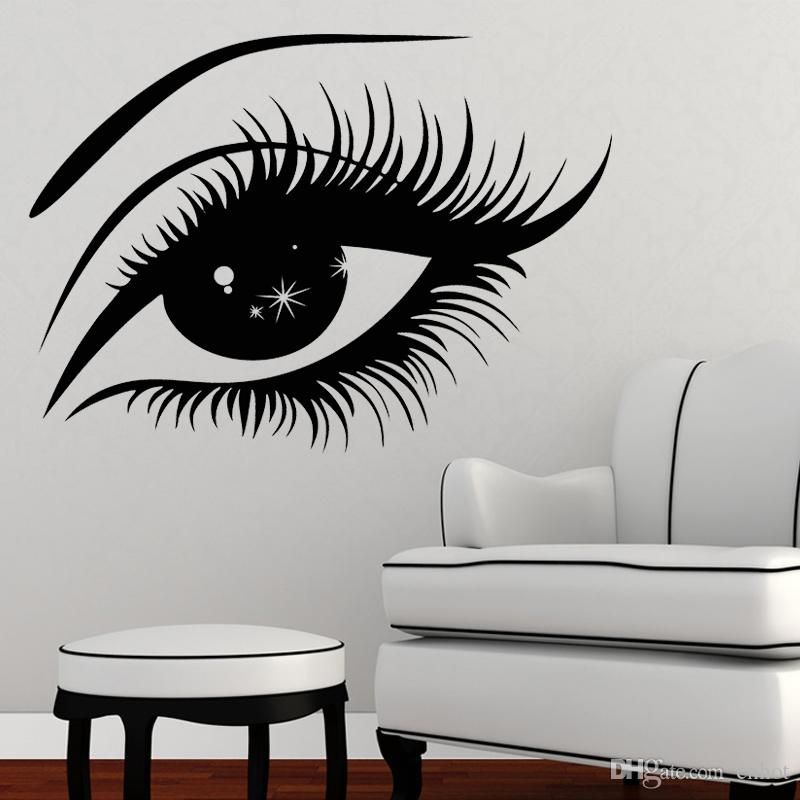Wall Art Stickers Eyes : Eyelashes wall sticker vinyl decal eye makeup interior