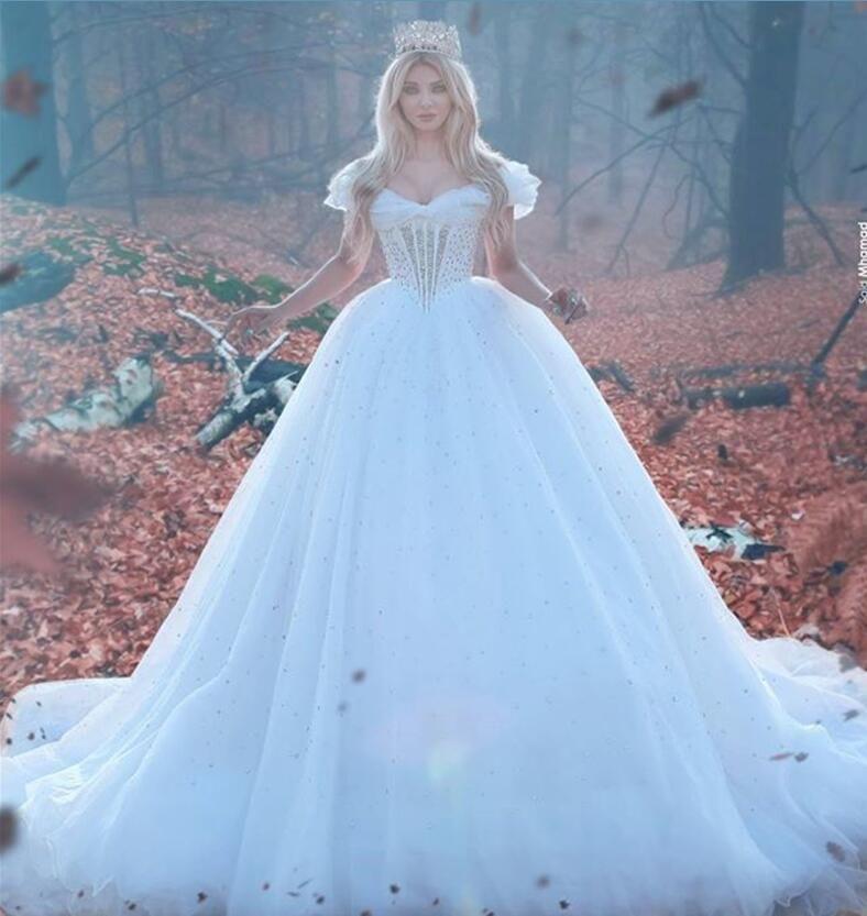 Cinderella 2016 Wedding Dresses Crystal Beading Gorgeous