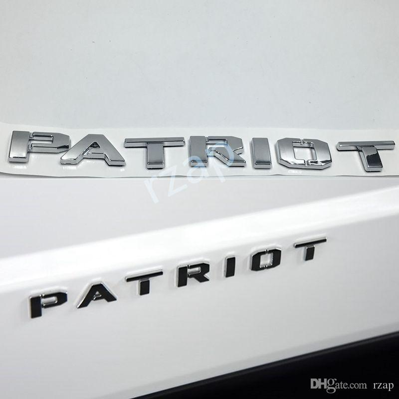 3 colors for jeep 2011 2016 patriot letter car body 3d abs chrome emblem logo nameplate badge accessories