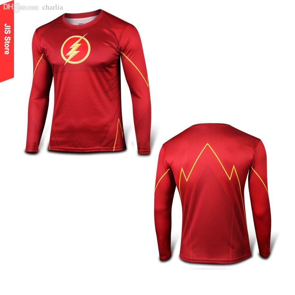 Shirt design software online -  Long Sleeve T Shirts Flash Red Quick Drying Tshirt Fitness Running Crossfit Tees Tee Shirt Online Store T Shirt Germany Tee Shirt Design Software Online
