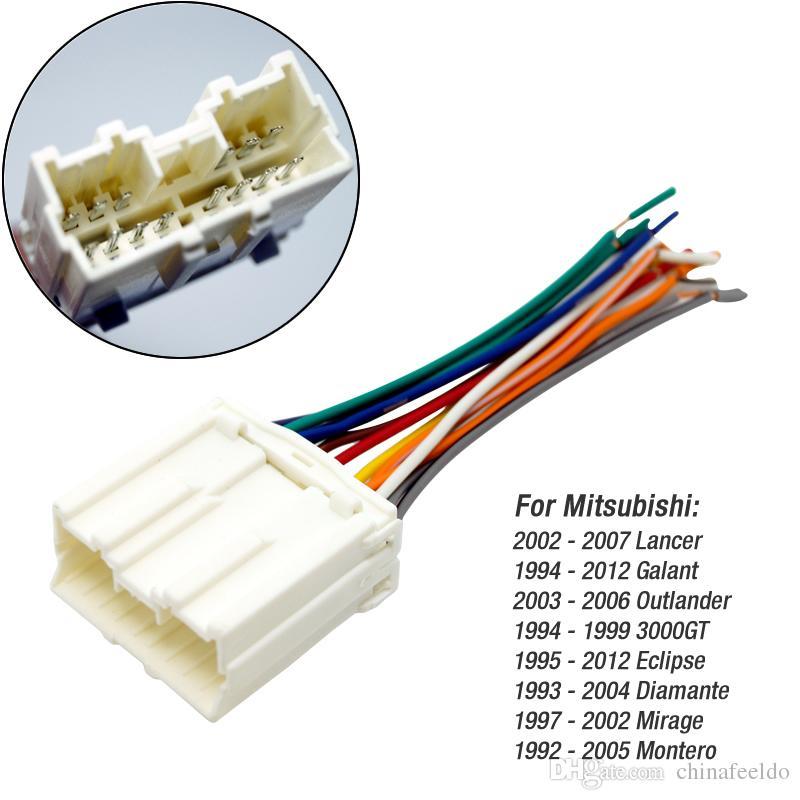 leewa car radio stereo wiring harness adapter for mitsubishi pioneer radio wiring harness adapter at Car Radio Wiring Harness
