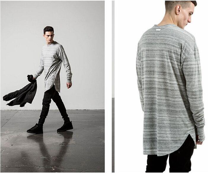 New Kpop Hipster Streetwear Designer Long Sleeve Longline Extended ...