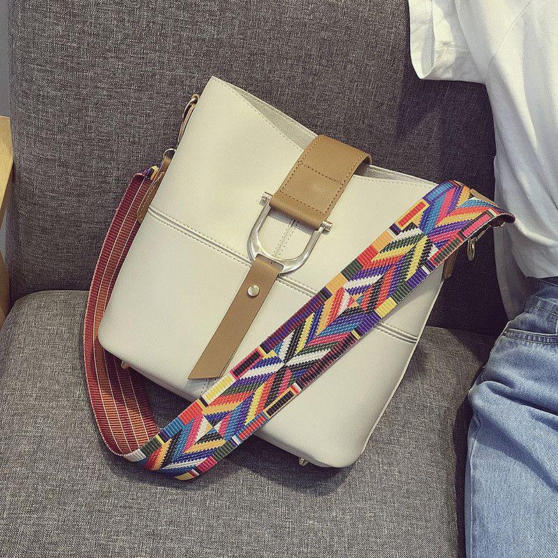 2016 New Women's Handbags High-Quality Vintage Minimalist High-Capacity Tote Bag Pu Leather Shoulder Bags BB1316