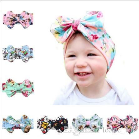 baby flower headbands for girls kids boutique hair bows