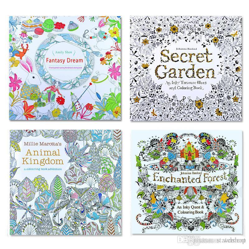 2017 Dhl Shipping Secret Garden Kids Coloring Book 24