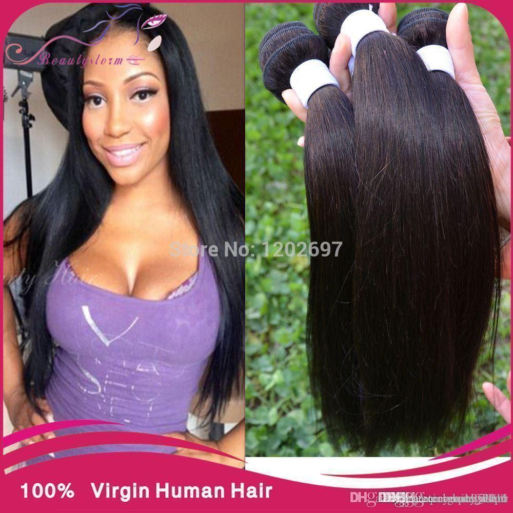 Straight perm products - Cheap Brazilian Virgin Hair Straight Bundles Modern Show Hair 4pcs Lot Brazilian Straight Hair Weave Online