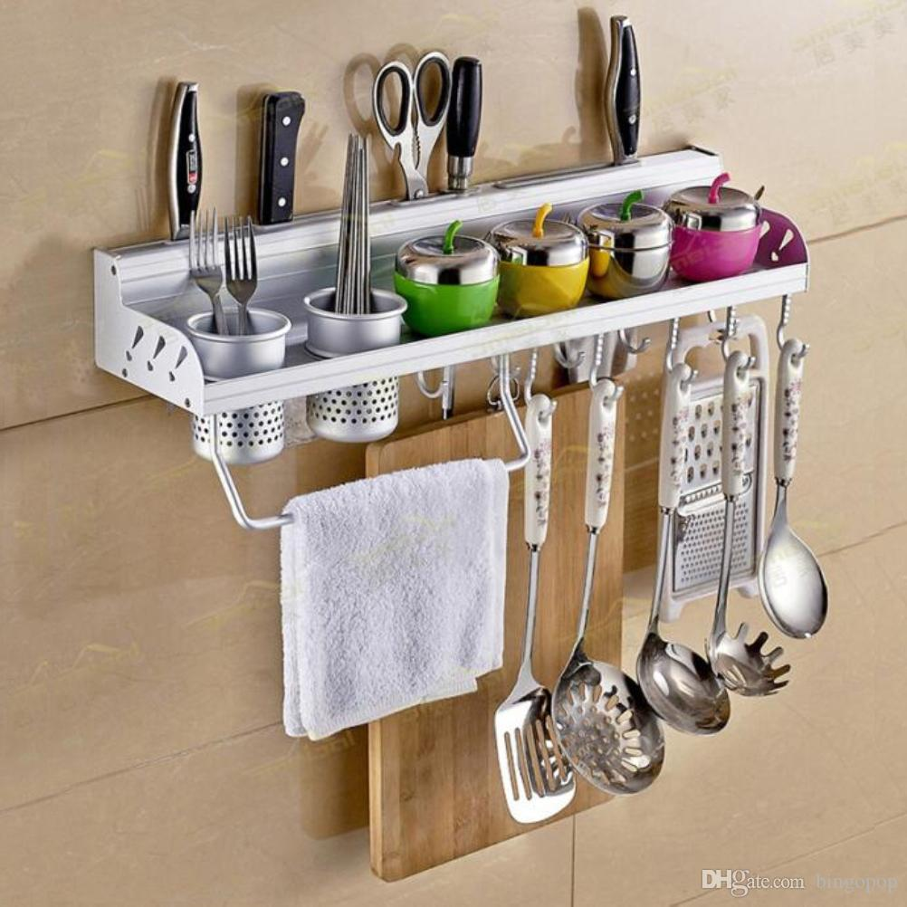 Kitchen Rack 2017 Multifunctional Wall Hanging Aluminum Kitchen Rack Of Wall