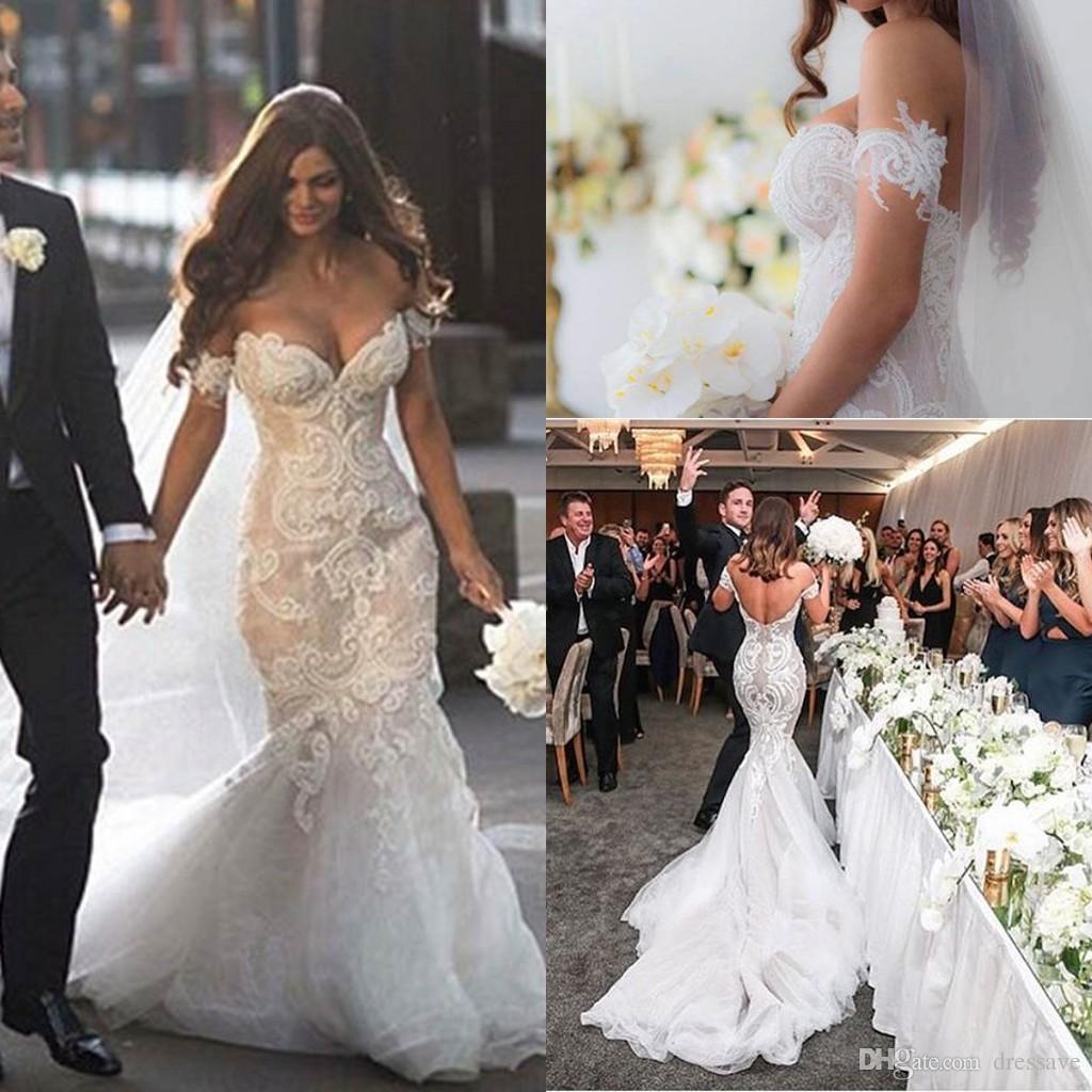 Discount 2016 gorgeous steven khalil dubai arabic pearl for Cheap wedding dresses in dubai