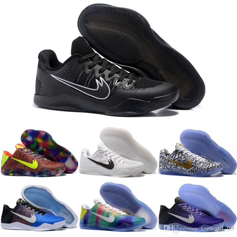 Wholesale Kobe 11 Men Basketball Shoes Retro Cheap KB11 Sports Shoes Outdoor Discount Shoes For Sale Free Shipping Size 40-46
