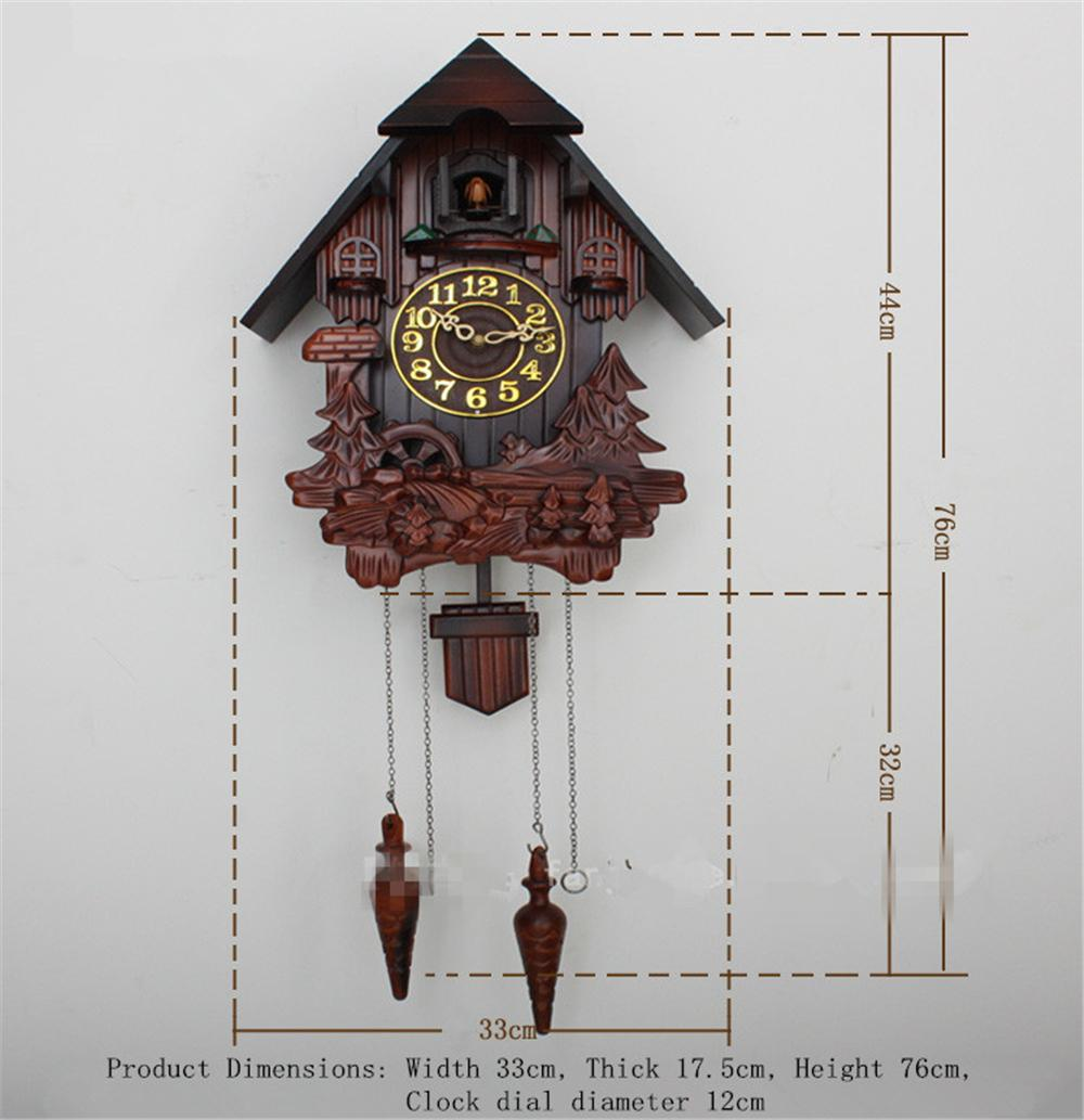European cuckoo clock chime and light control hand carved wood wall clocks funky wall clocks - Funky cuckoo clock ...