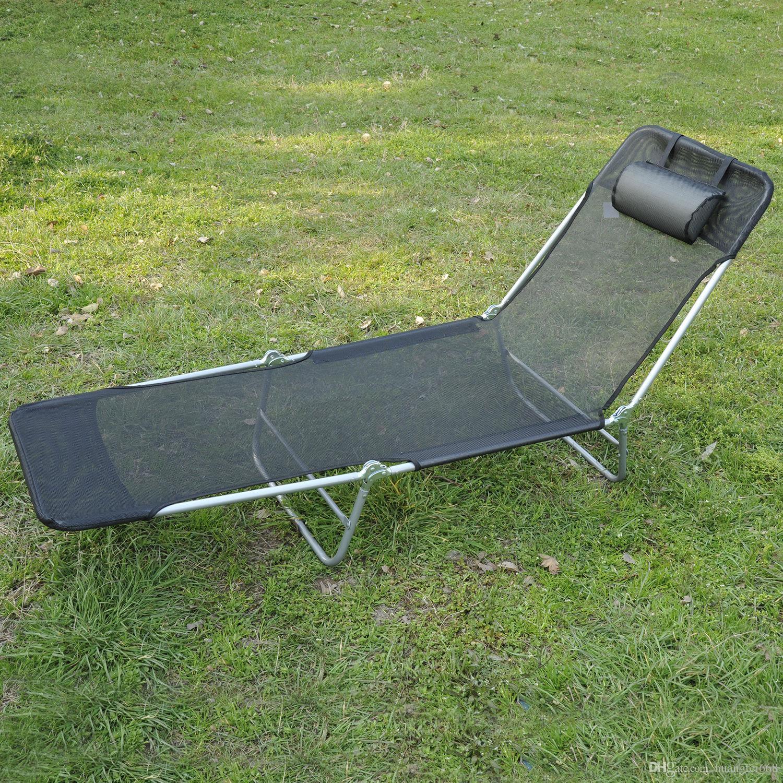 Beach sun patio chaise lounge chair pool lawn lounger for Beach chaise lounger