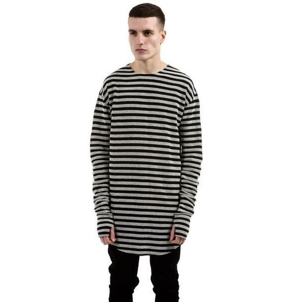 High quality 2016 fashionable mens striped long sleeve t for Mens striped long sleeve t shirt