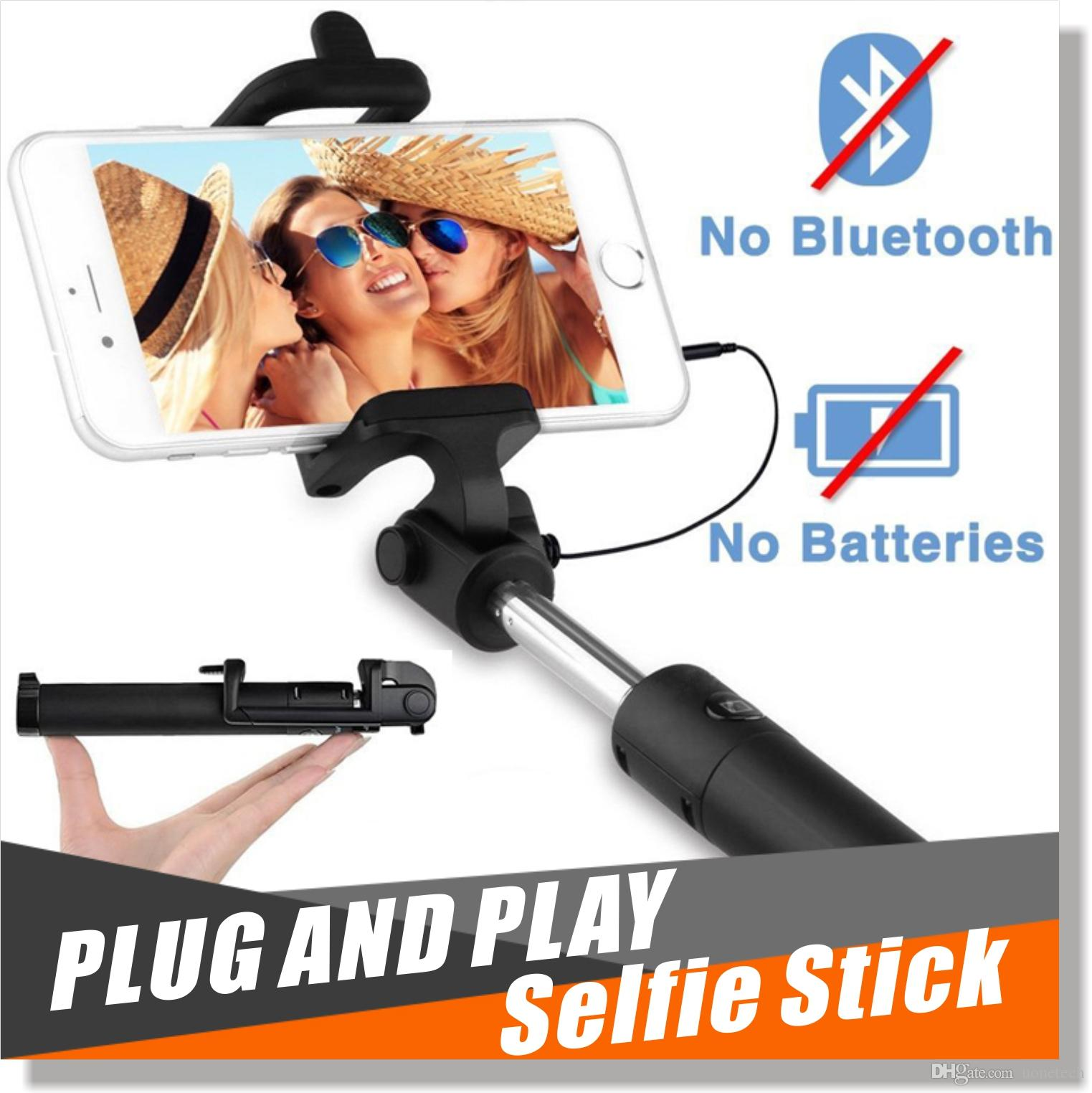 selfie stick pro minisuit folding monopod with built in w wired shutter for a. Black Bedroom Furniture Sets. Home Design Ideas