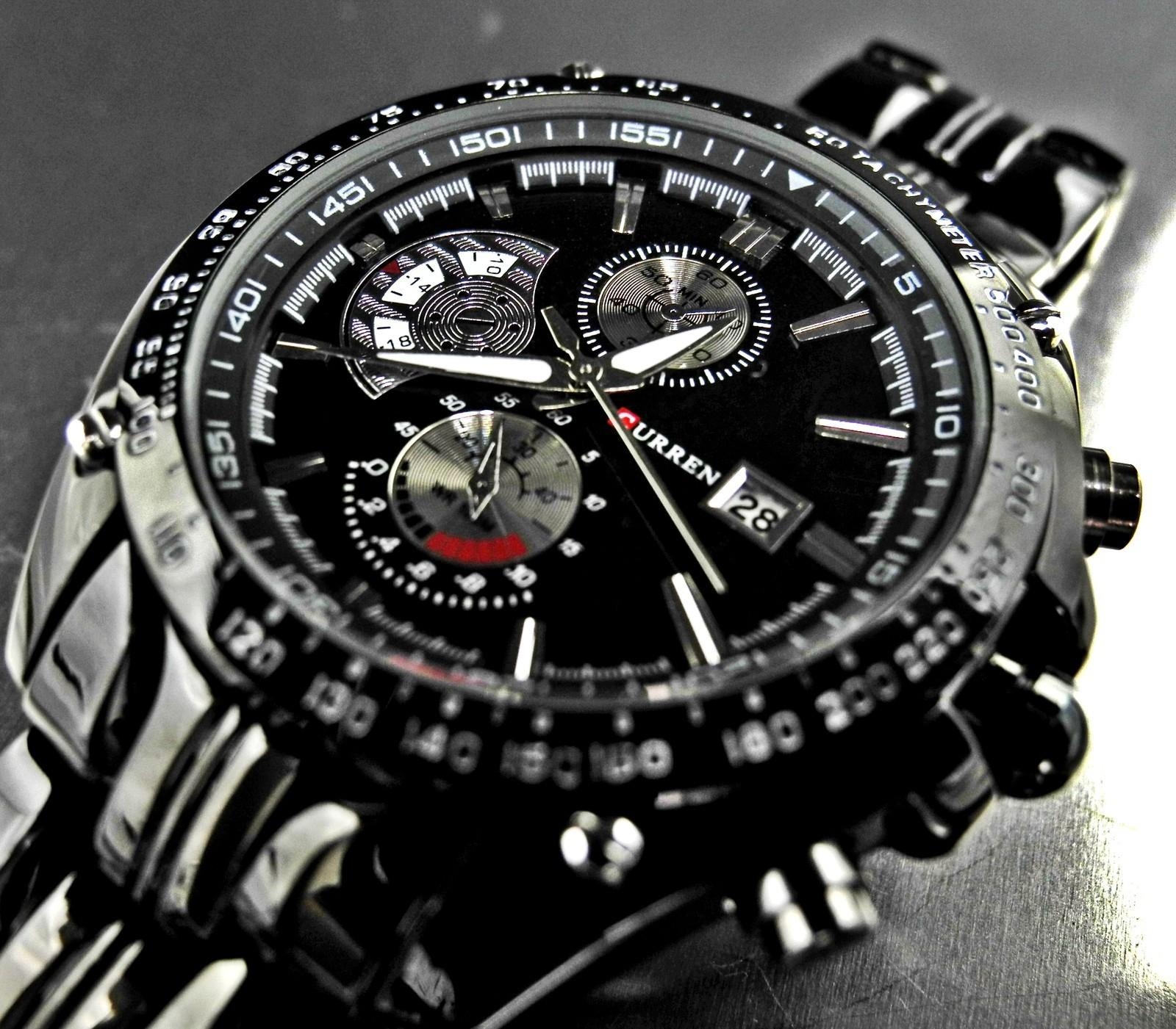 Wrist watches brands for mens - Men Stylish Curren Date Japan Movt Steel Wrist Watch New Dive Stainless Watch Sport Style Military Mens Watches Watch Quartz Watches Curren Online With