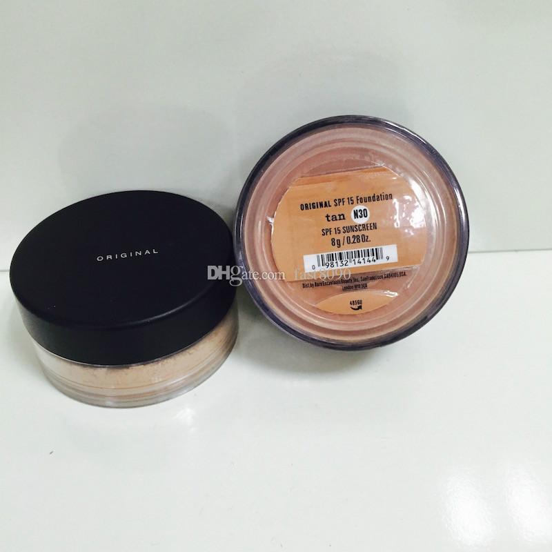 HOT selling! top quality makeup Minerals original Foundation 8g SPF15 NEW Click/Lock 7 colors light /medium beige/mineral veil/medium dhl