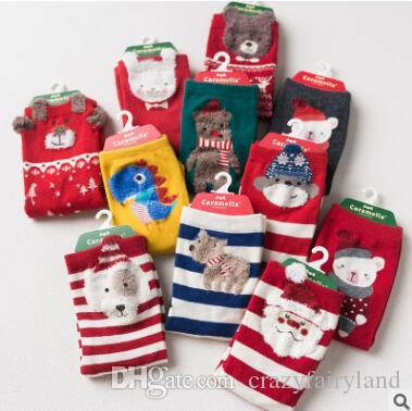 Kids Christmas Socks For Baby Boys Girls FALL Winter Cute Animal ...
