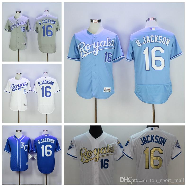 KC Royals Jerseys 16 Bo Jackson Jersey Flexbase Kansas City Royals Baseball 1985
