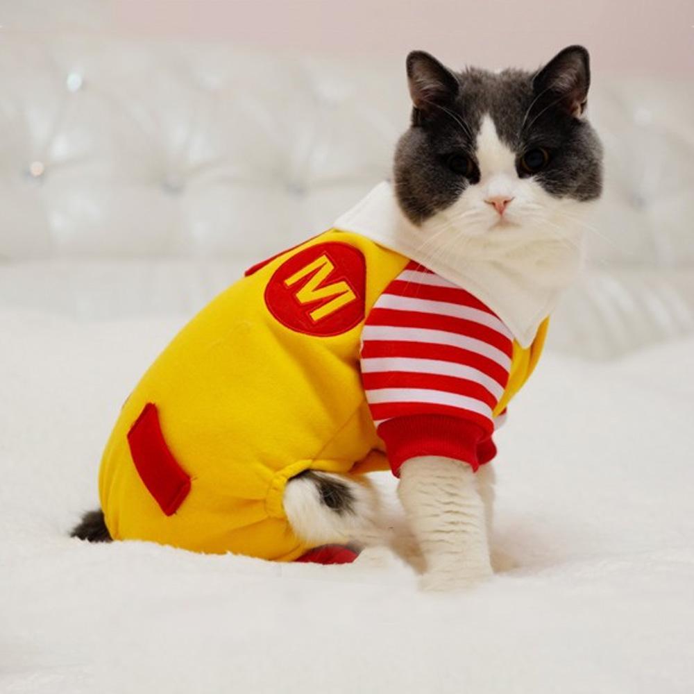 dog halloween costume funny cute cat cosplay clothes mcdonald comfortable winter warm cotton dog coat jacket jumpsuit cat costumes d005 dog cute costume