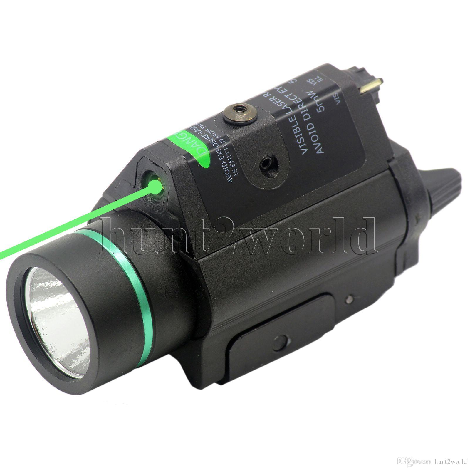 Tactical LED Flashlight Torch Green Laser Dot Sight Combo 200LM 532nm pour chass