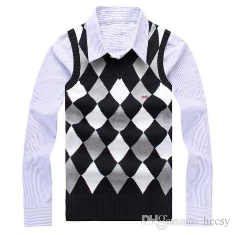 2017 Winter And Spring Sweater Vest Brand Clothing/sweaters Vest M ...