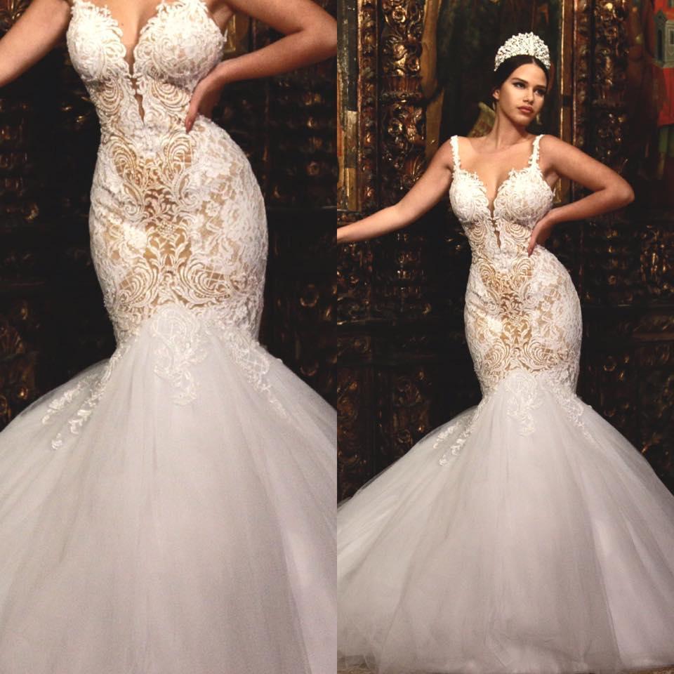 2016 berta sexy mermaid wedding dresses sheer back for Dhgate wedding dresses 2016