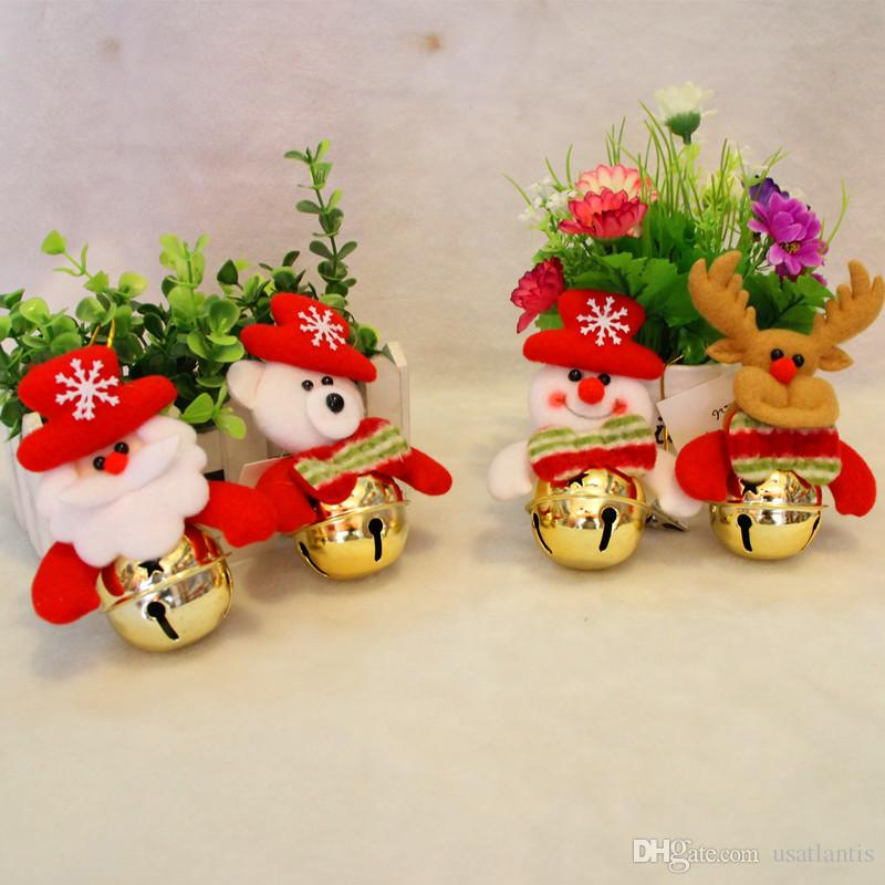 Santa claus snowman reindeer teddy dolls christmas bell for B m xmas decorations