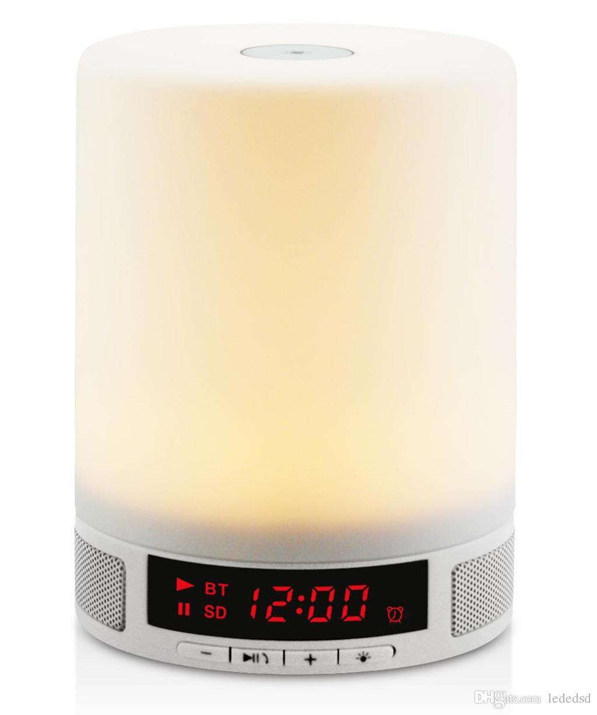 Led smart night lamp - Smart Alarm Clock Night Led Light Bluetooth Led Table Touch Lamp Bluetooth Music Box Speaker