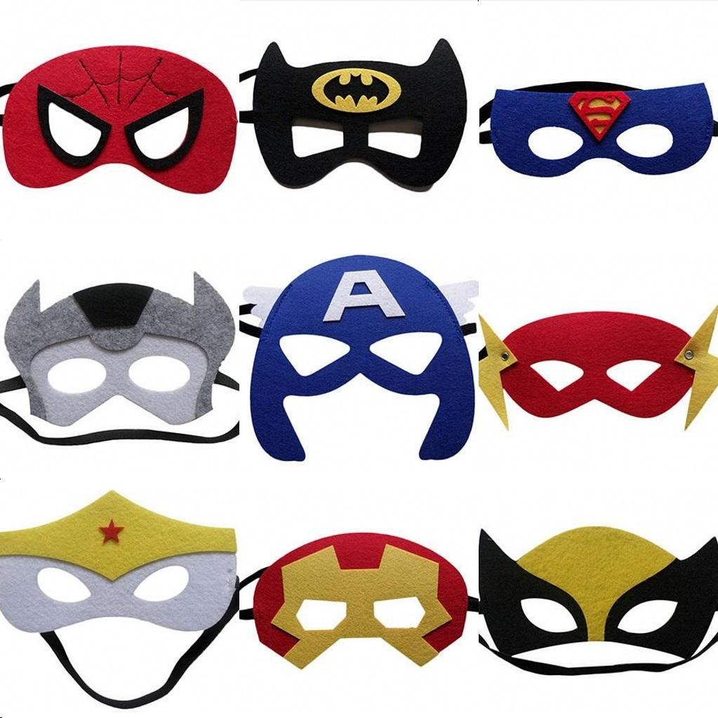 Uncategorized Halloween Mask For Kids hot sale the avengers masks children party face superheros cosplay halloween kids birthday supplies childr